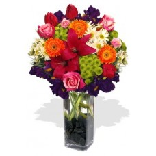 Assorted Flowers Vase Bouquet