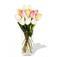 10 Mixed Holland Tulips Vase Bouquet