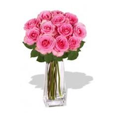 12 Rose Vase Bouquet